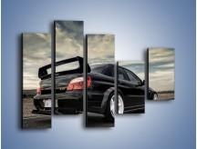 Obraz na płótnie – Czarne Subaru Impreza WRX Sti – pięcioczęściowy TM133W4