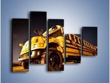 Obraz na płótnie – Amerykański School Bus – pięcioczęściowy TM146W4