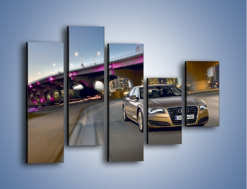 Obraz na płótnie – Audi A8 – pięcioczęściowy TM188W4