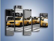 Obraz na płótnie – Amerykańskie taksówki w korku ulicznym – pięcioczęściowy TM219W4