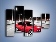 Obraz na płótnie – BMW 5 E34 na moście – pięcioczęściowy TM227W4