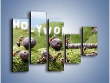 Obraz na płótnie – Ciężka praca mrówek – pięcioczęściowy Z308W4