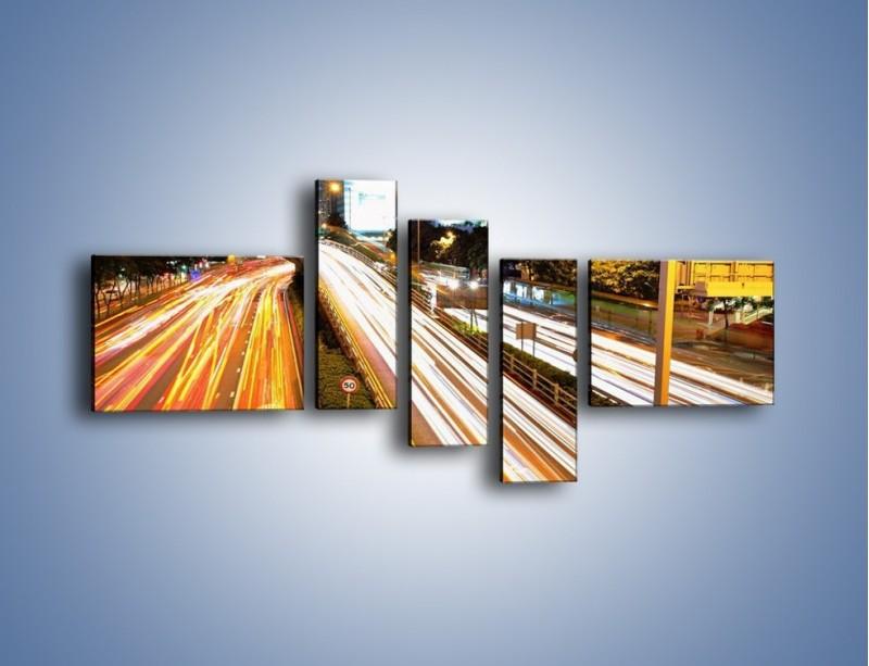 Obraz na płótnie – Ulice w ruchu w mieście – pięcioczęściowy AM089W5