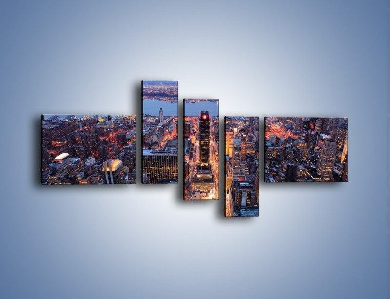 Obraz na płótnie – Budzące się ze snu miasto – pięcioczęściowy AM097W5