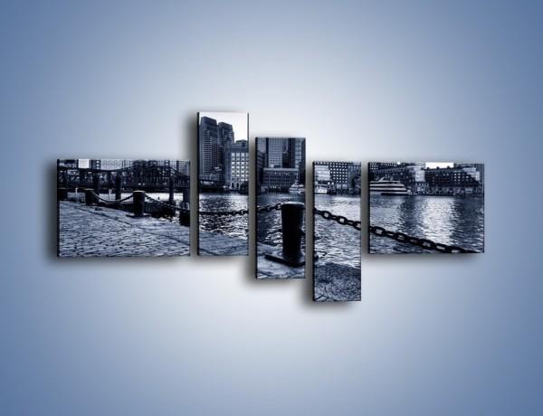 Obraz na płótnie – Wybrukowana wybrzeże miasta – pięcioczęściowy AM132W5