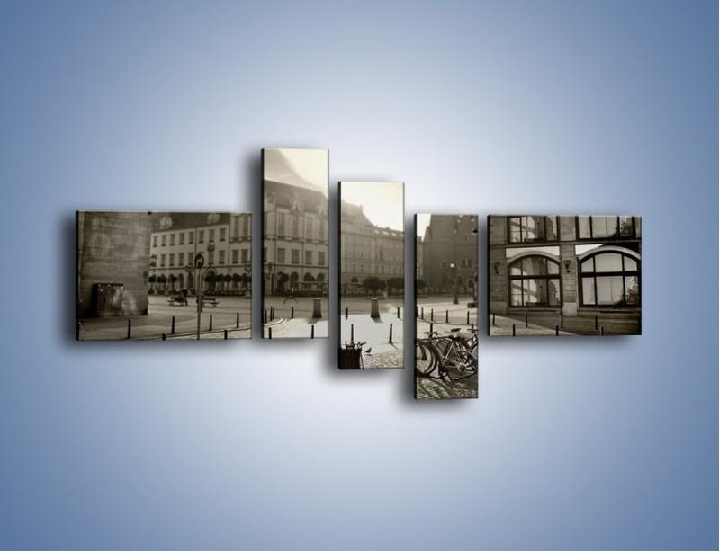 Obraz na płótnie – Rynek Starego Miasta – pięcioczęściowy AM136W5
