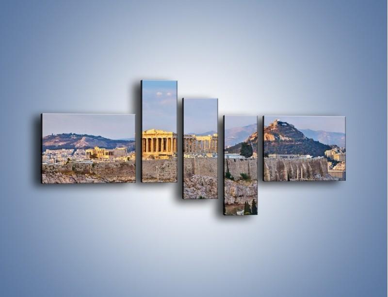 Obraz na płótnie – Ateńskie ruiny – pięcioczęściowy AM162W5