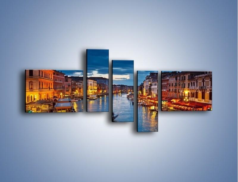 Obraz na płótnie – Wenecja romantyczną porą – pięcioczęściowy AM163W5