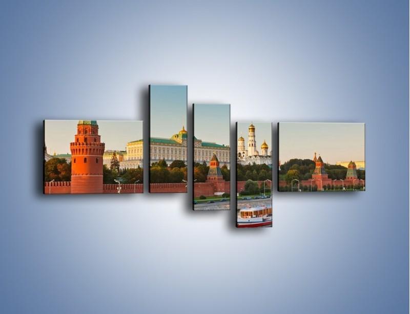 Obraz na płótnie – Kreml w środku lata – pięcioczęściowy AM164W5