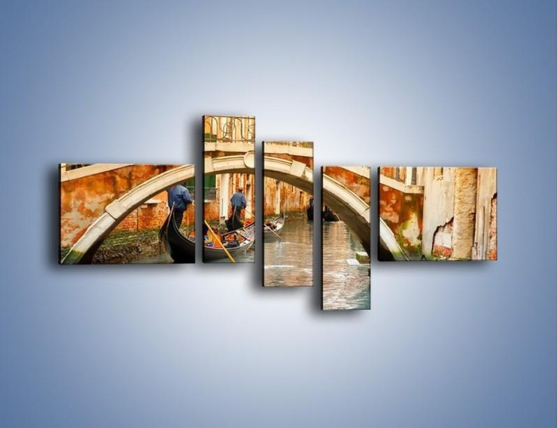 Obraz na płótnie – Weneckie gondole – pięcioczęściowy AM172W5