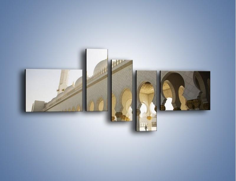 Obraz na płótnie – Bliskowschodnia architektura – pięcioczęściowy AM177W5