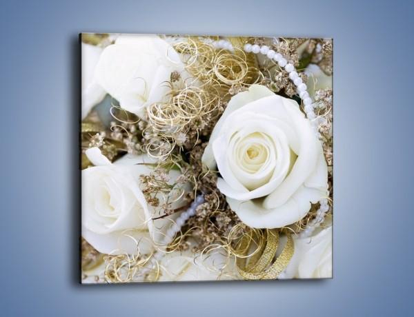 Obraz na płótnie – Perły wśród kwiatów – jednoczęściowy kwadratowy K184