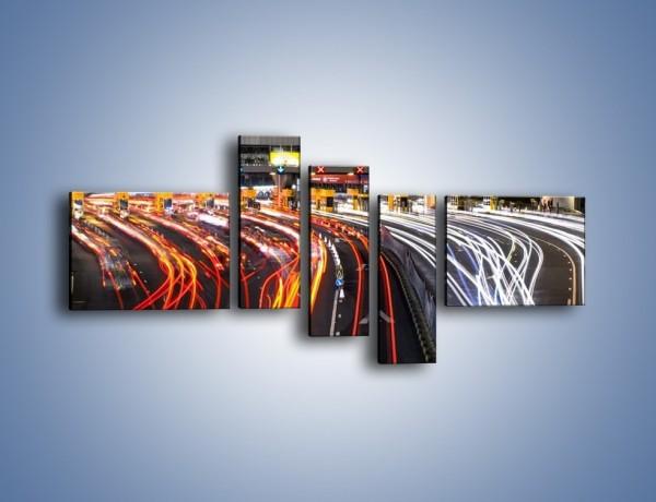 Obraz na płótnie – Autostradowa bramka w ruchu świateł – pięcioczęściowy AM236W5