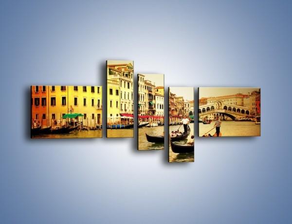Obraz na płótnie – Wenecki rejs gondolą – pięcioczęściowy AM240W5