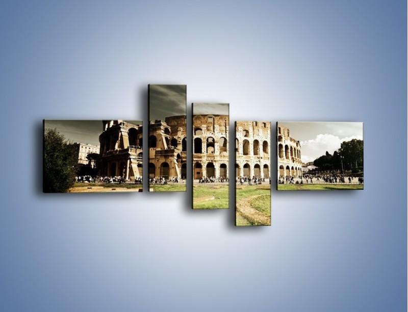 Obraz na płótnie – Koloseum przed burzą – pięcioczęściowy AM271W5