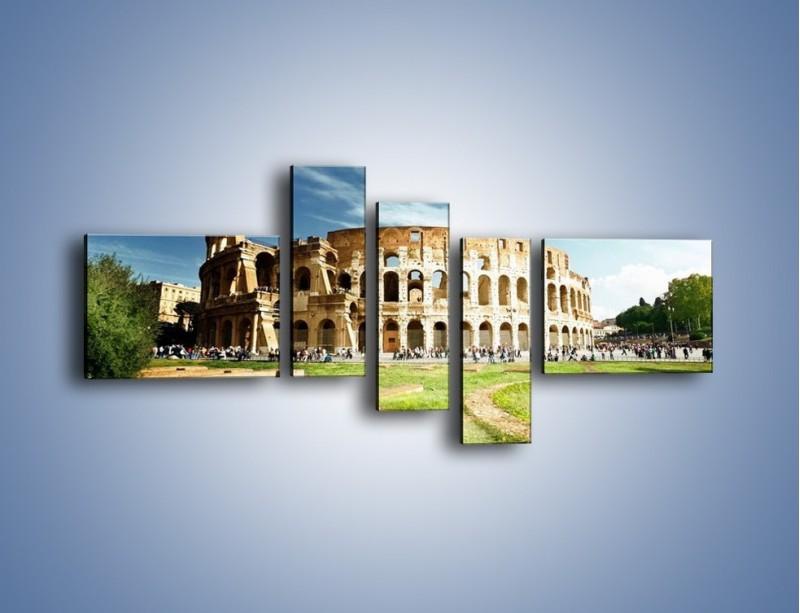 Obraz na płótnie – Koloseum w piękny dzień – pięcioczęściowy AM273W5