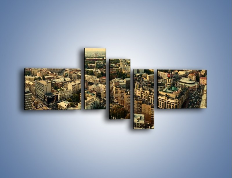 Obraz na płótnie – Panorama Kijowa – pięcioczęściowy AM326W5