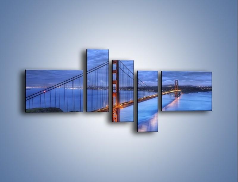 Obraz na płótnie – Most Golden Gate – pięcioczęściowy AM328W5