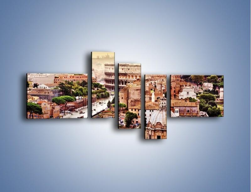Obraz na płótnie – Panorama Rzymu – pięcioczęściowy AM338W5
