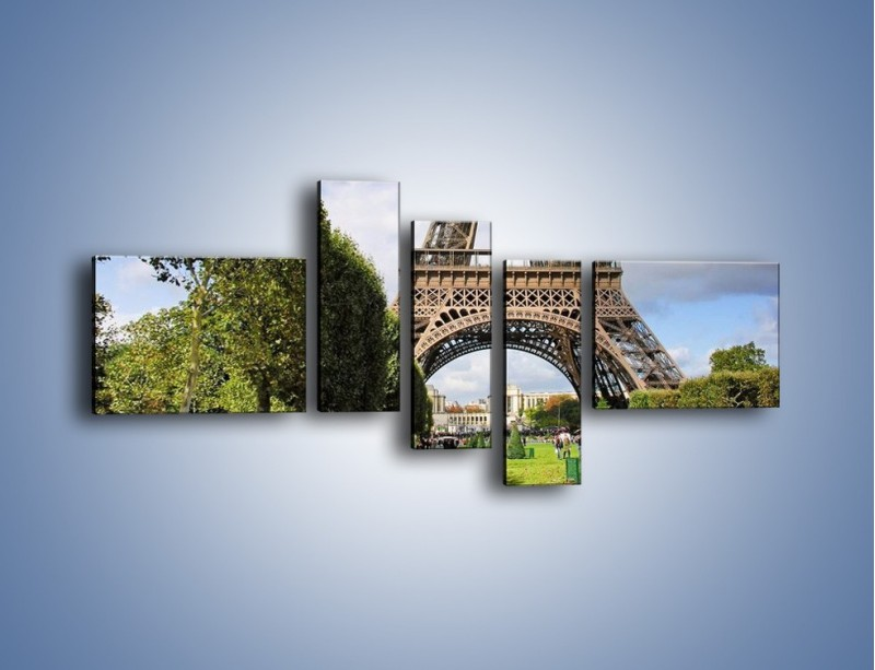 Obraz na płótnie – Wieża Eiffla – pięcioczęściowy AM340W5