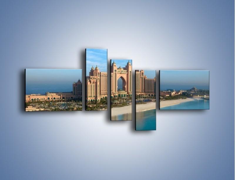 Obraz na płótnie – Atlantis Hotel w Dubaju – pięcioczęściowy AM341W5