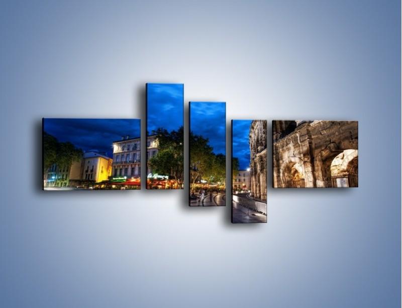 Obraz na płótnie – Nocne życie w Rzymie – pięcioczęściowy AM344W5