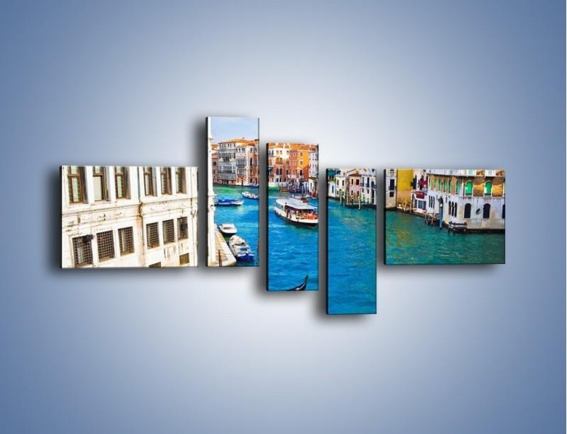 Obraz na płótnie – Kolorowy świat Wenecji – pięcioczęściowy AM362W5