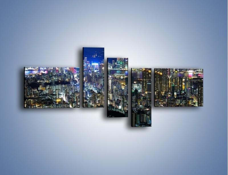 Obraz na płótnie – Drapacze chmur w Hong Kongu – pięcioczęściowy AM369W5