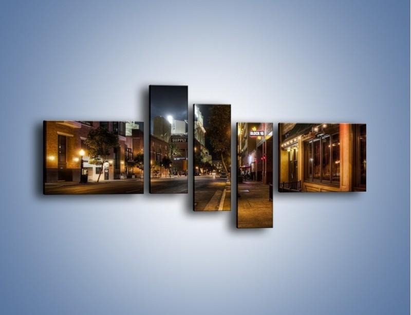 Obraz na płótnie – Ulica San Diego w Kaliforni – pięcioczęściowy AM390W5