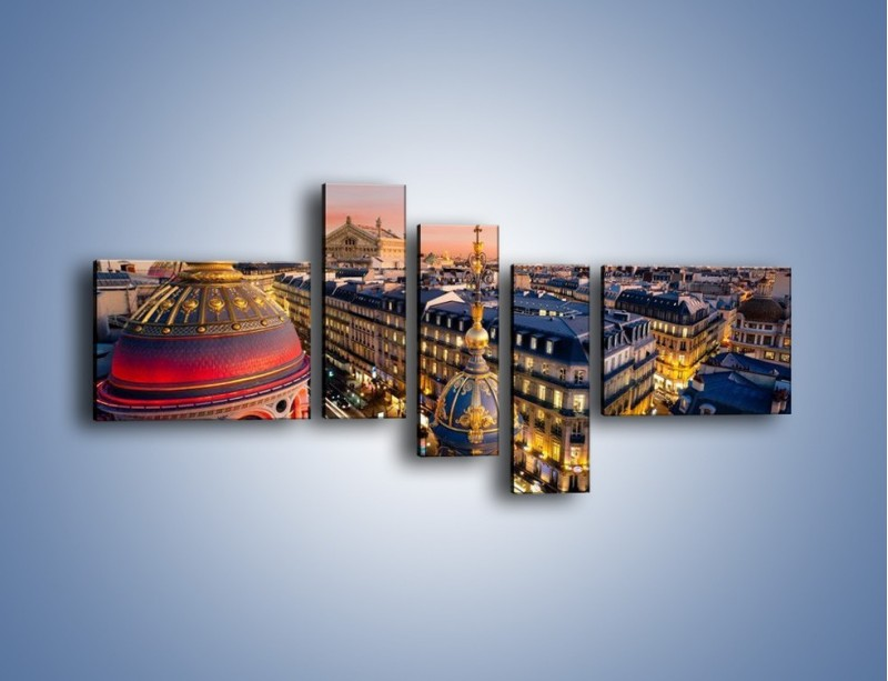 Obraz na płótnie – Paryska architektura – pięcioczęściowy AM402W5
