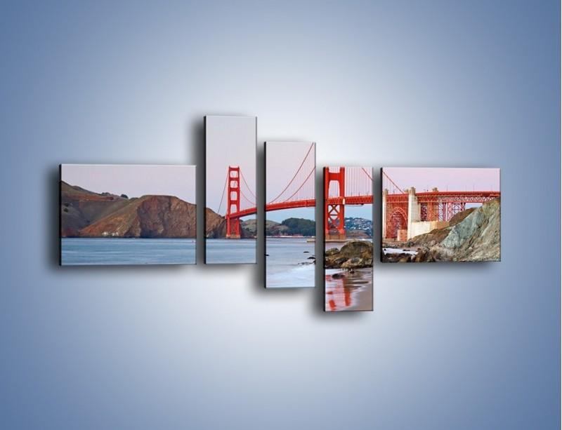 Obraz na płótnie – Most Golden Gate – pięcioczęściowy AM406W5