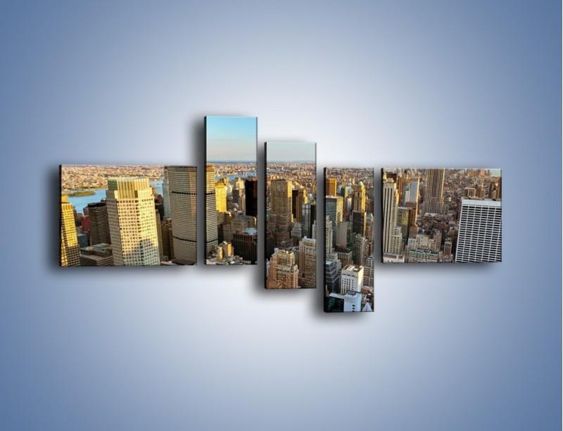 Obraz na płótnie – Manhattan w Nowym Yorku – pięcioczęściowy AM412W5