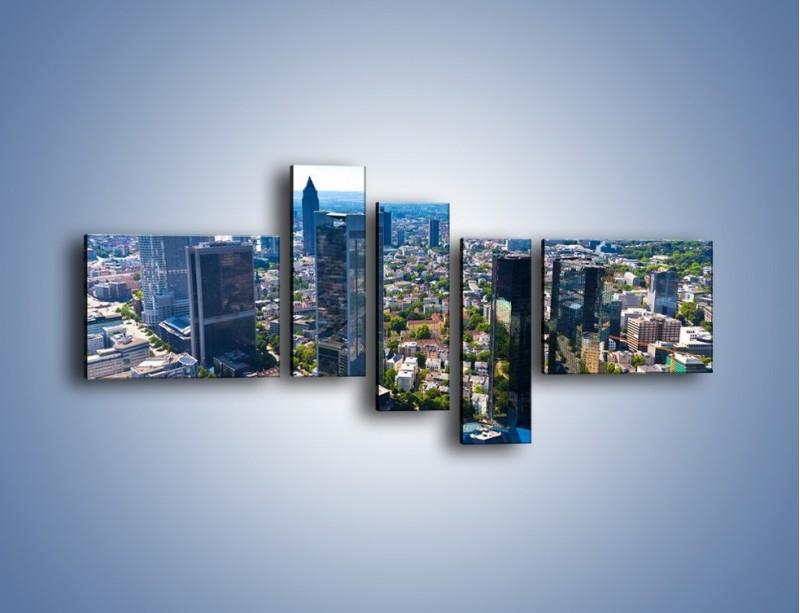 Obraz na płótnie – Panorama Frankfurtu – pięcioczęściowy AM414W5
