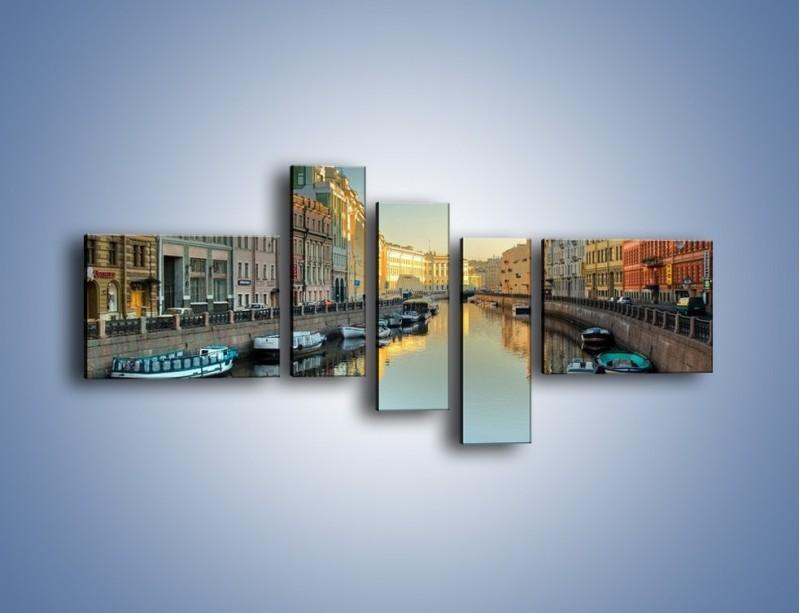 Obraz na płótnie – Kanał wodny w St. Petersburgu – pięcioczęściowy AM422W5
