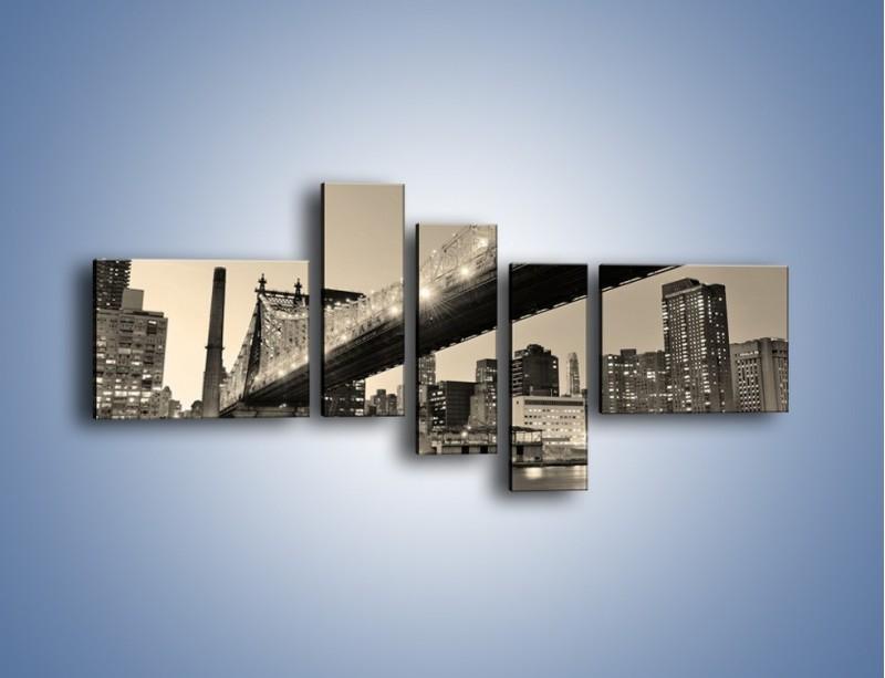Obraz na płótnie – Most Qeensboro w Nowym Yorku – pięcioczęściowy AM438W5