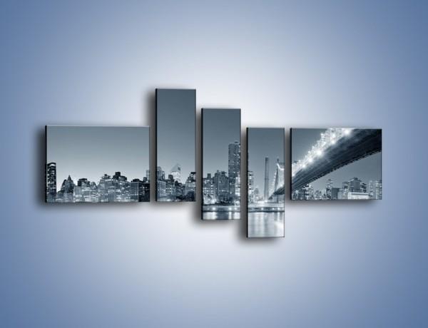 Obraz na płótnie – Panorama Nowego Yorku – pięcioczęściowy AM439W5