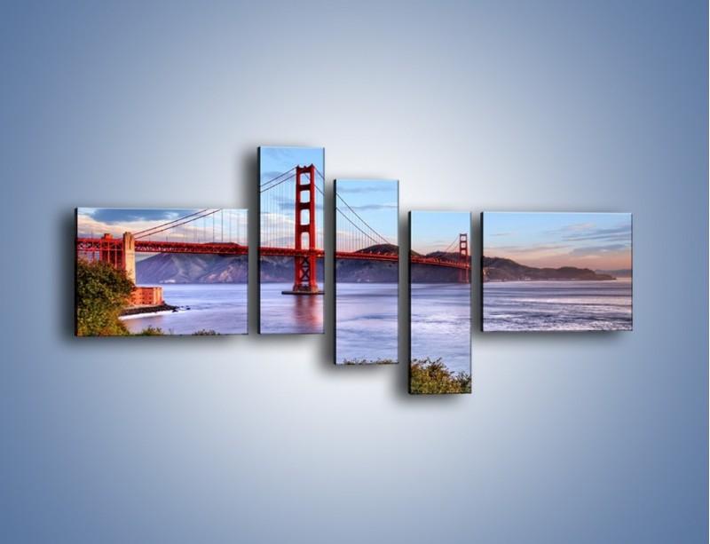 Obraz na płótnie – Most Golden Gate w San Francisco – pięcioczęściowy AM444W5