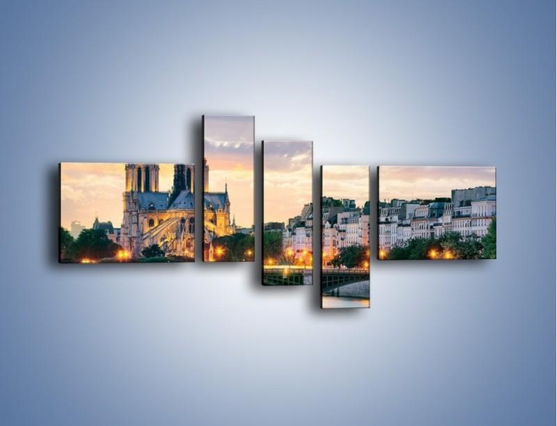 Obraz na płótnie – Katedra Notre Dame – pięcioczęściowy AM454W5
