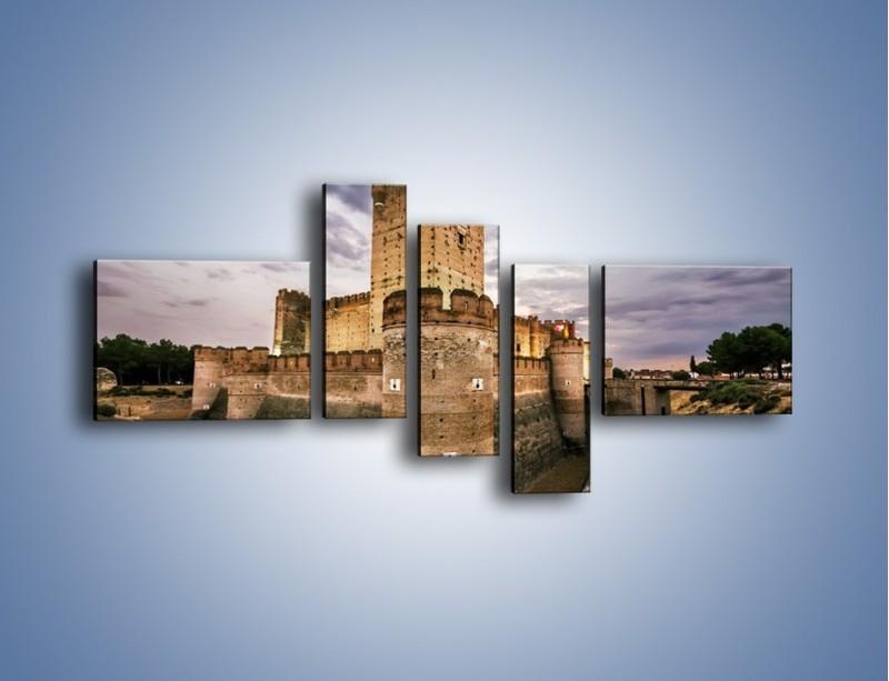 Obraz na płótnie – Zamek La Mota w Hiszpanii – pięcioczęściowy AM457W5