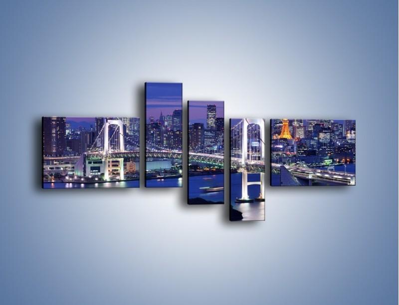 Obraz na płótnie – Tęczowy Most w Tokyo – pięcioczęściowy AM460W5