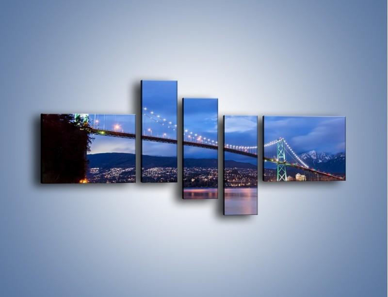 Obraz na płótnie – Most Lions Gate w Vancouver – pięcioczęściowy AM471W5