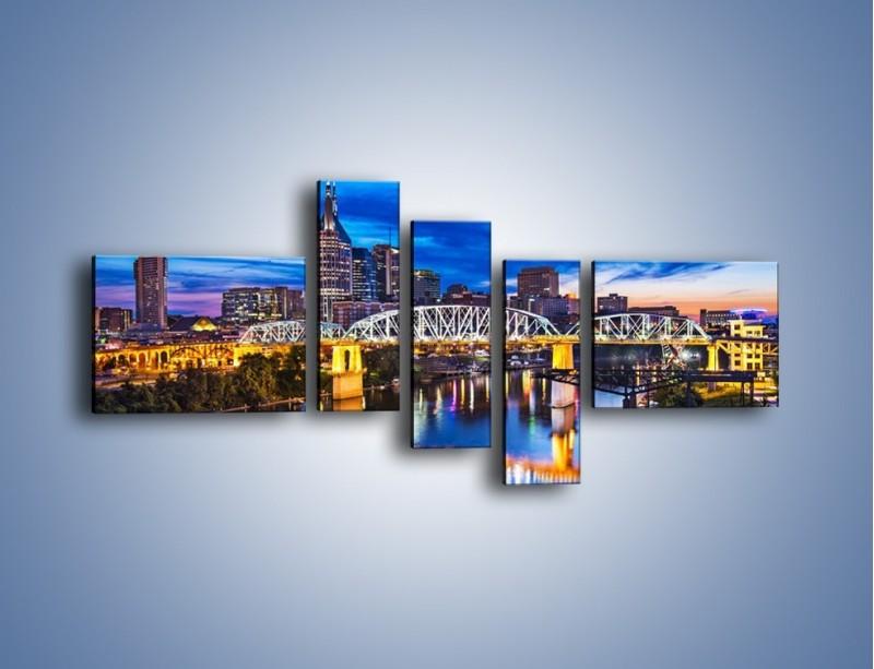 Obraz na płótnie – Most Shelby Street w Nashville – pięcioczęściowy AM489W5