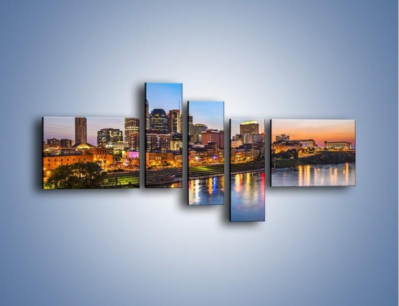 Obraz na płótnie – Nashville nad rzeką Cumberland – pięcioczęściowy AM491W5