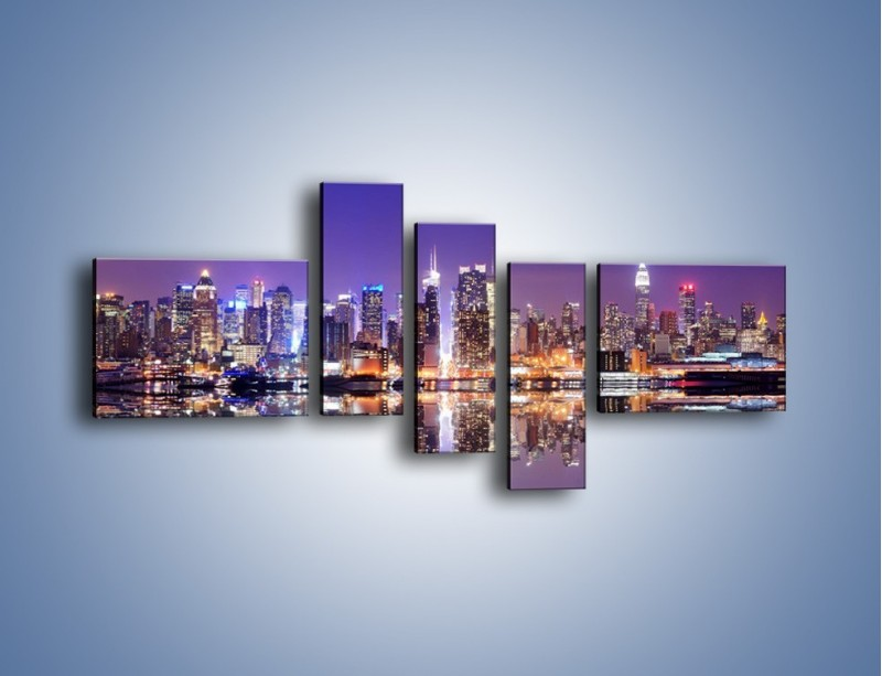 Obraz na płótnie – Panorama Midtown Manhattan – pięcioczęściowy AM492W5