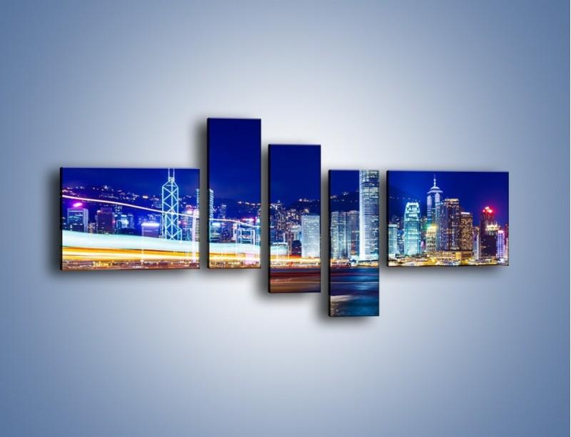 Obraz na płótnie – Panorama Hong Kongu – pięcioczęściowy AM499W5