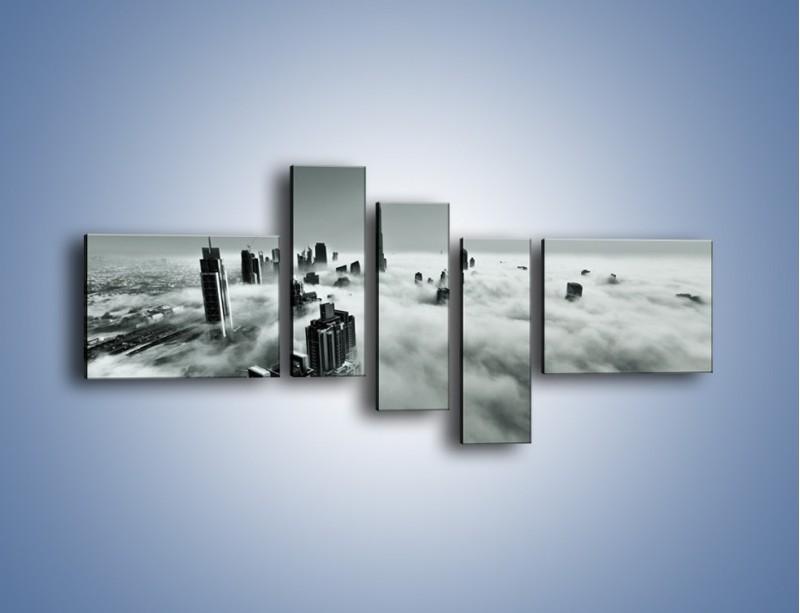 Obraz na płótnie – Centrum Dubaju we mgle – pięcioczęściowy AM502W5