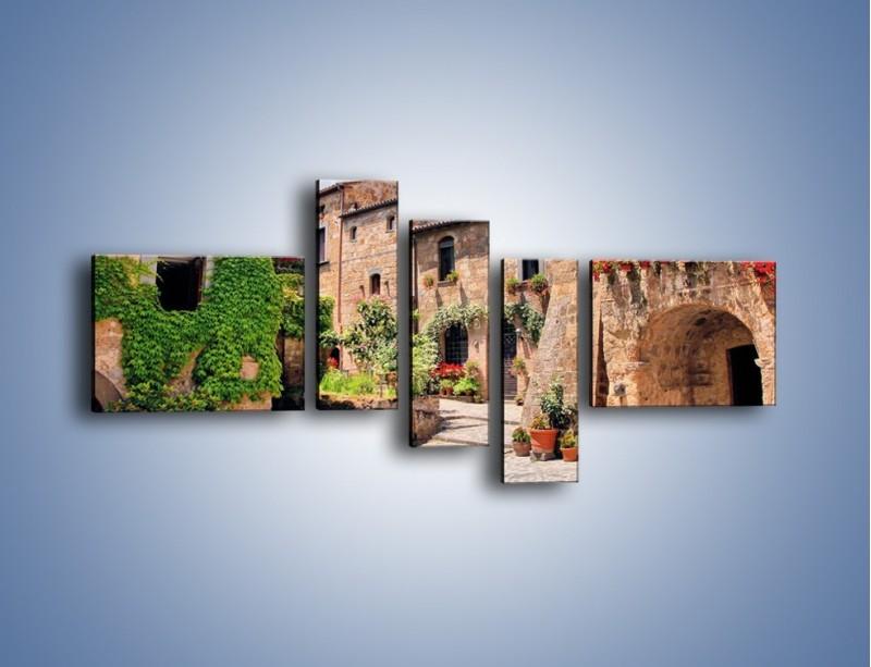 Obraz na płótnie – Romantyczna uliczka we Włoszech – pięcioczęściowy AM533W5