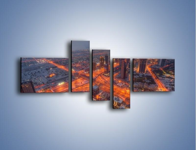 Obraz na płótnie – Panorama Dubaju o poranku – pięcioczęściowy AM538W5