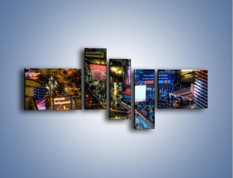 Obraz na płótnie – Cosmopolitan of Las Vegas – pięcioczęściowy AM577W5