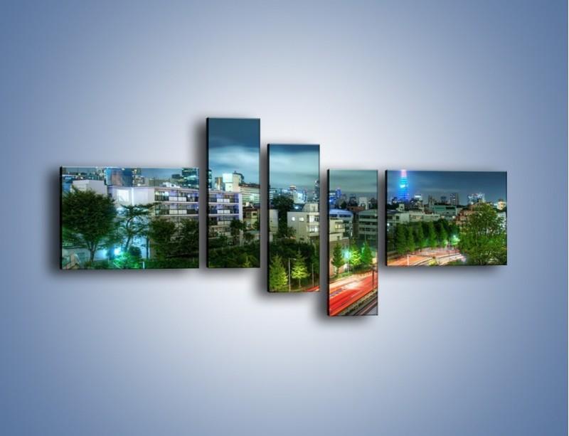 Obraz na płótnie – Miasto Roppongi w Japonii – pięcioczęściowy AM593W5
